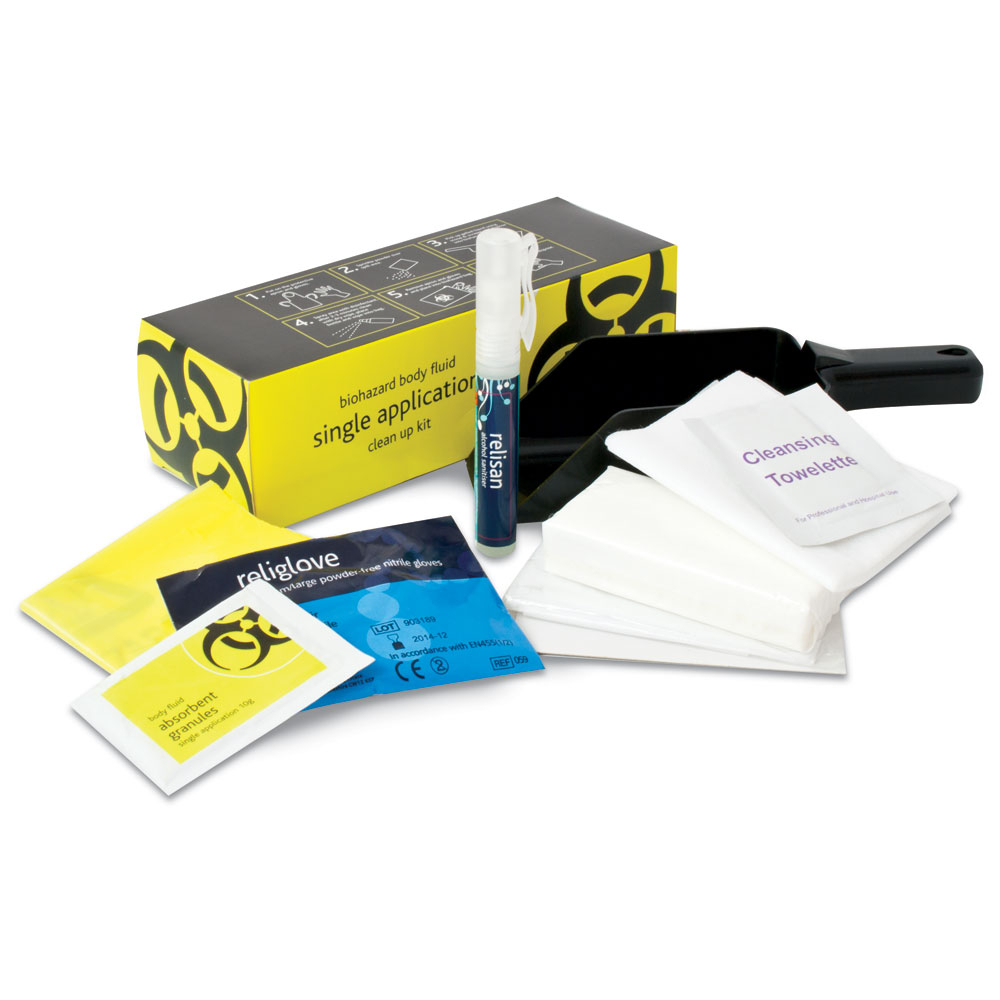 Single Application Body Fluid Clean-up Kit Refill