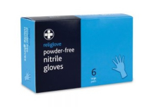 Nitrile Gloves - 5 Boxes of 6 Pairs for Refill Kits