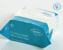 Clinitex Flushaway Dry Wipes 30 Packs of 50 wipes