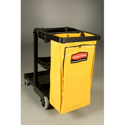 Rubbermaid Replacement Yellow Zip Bag for Janitoral Cart
