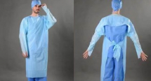 Blue Isolation Gowns 117cm x 193cm x 10