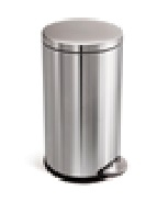 Round Pedal Bin 3L FPP Brushed Steel
