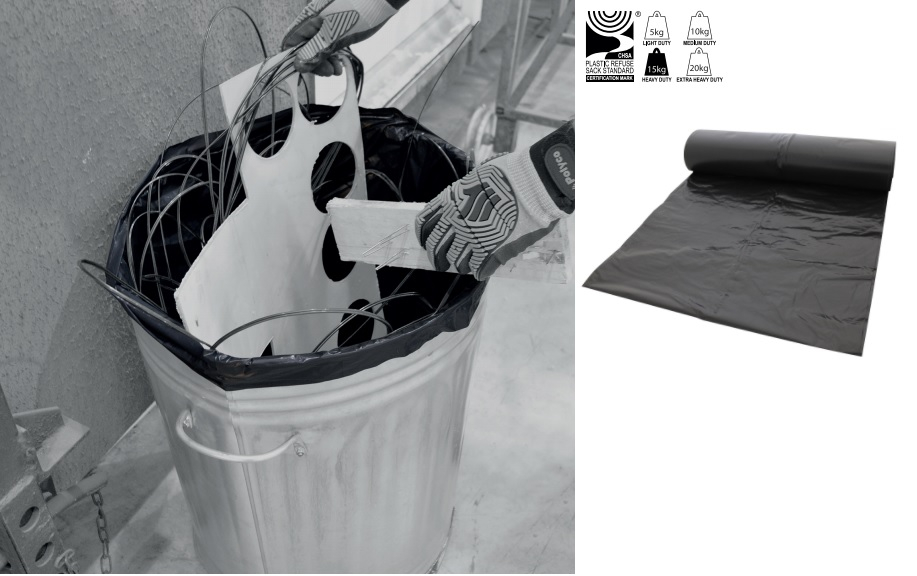 Heavy Duty Premium Black Bin Bags x 200
