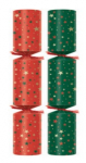 "11"" Holly Wreath Crackers Box of 100"