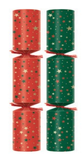 11Inch Holly Wreath Crackers Box of 100