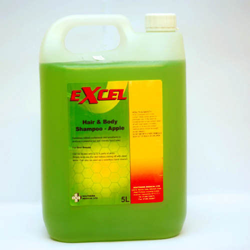 Excel Hair & Body Shampoo Appl le - 5 Litres