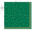 Twelfth Night Green Napkin - 33cm 2 Ply - Pack of 100
