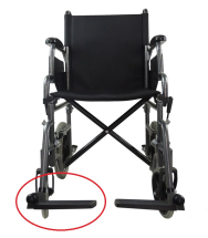 Replacement Right Footrest for Transit Wheelchair