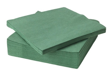 Two Ply Green Napkins 33 x 33cm 250 x 4