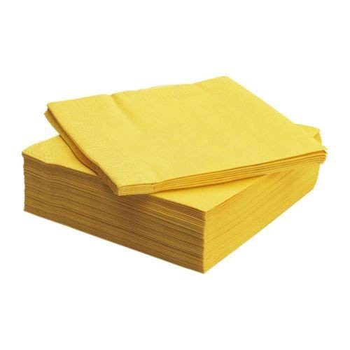 Two Ply Napkins Yellow 33x 33cm 250 x 4 Metsa