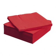 Two Ply Red Napkins 33 x 33cm  1000 per pack - Metsa