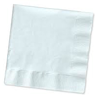 Metsa 2Ply 33 x 33cm White Na apkins Pack of 1500