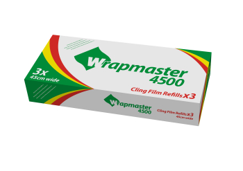 WrapMaster - Cling Film 45cm x 300m - Refill of 3 Roll