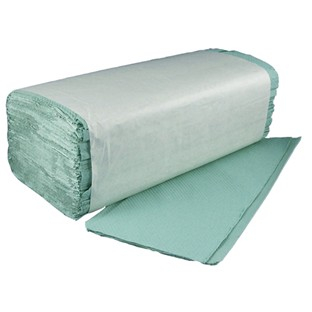 Green Interfold Hand Towels - 1 Ply - 3600 Sheets