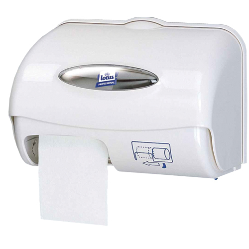E02224 Compact Toilet Roll Double Dispenser Plastic