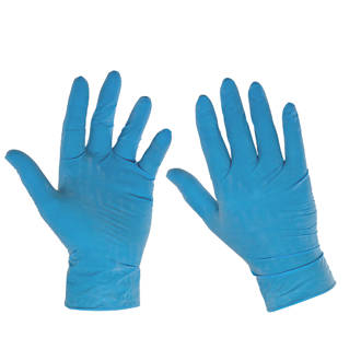 Box of LATEX Powdered Large Gloves - BLUE