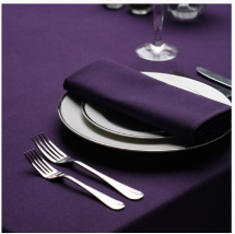Tablecloth Polyester Purple 52inch x 52inch