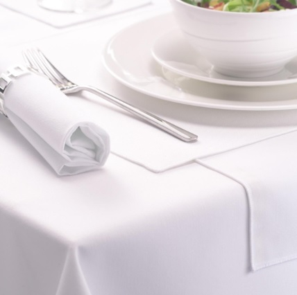 Table Cloth White Polyester 90 0 x 52inch cotton feel