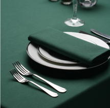 Signature Plus Table Cloth - Forest Green - 132cm Square