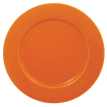 Olympia Cafe Wide Rimmed Plates Orange 255mm