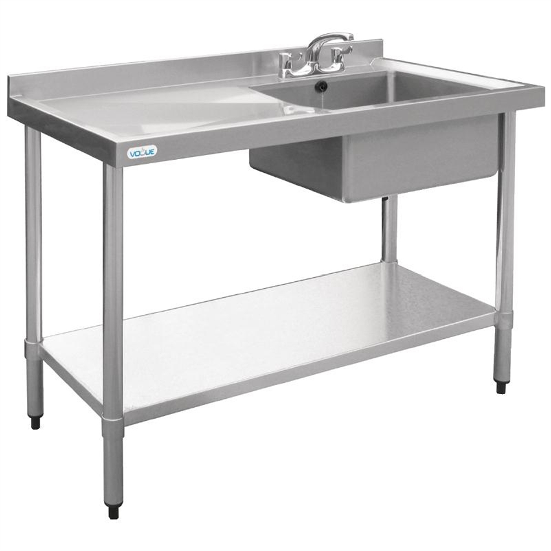 Vogue Stainless Steel Sink Right Hand Bowl 1200x600mm