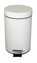 White Pedal Bin with Plastic Liner - 3L